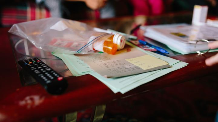 Medications on a home visit
